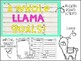 Llama Bulletin Board! A Whole Llama Goals, a goal setting bulletin board!