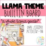 Llama-themed Goal Setting Bulletin Board