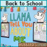 Llama Bulletin Board- All About Me - First Day of School - Llama Classroom Decor