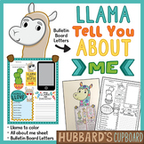 Back to School Bulletin Boards - All About Me - Llama Classroom Decor