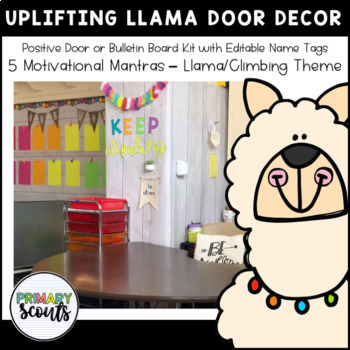 UpLIFTING Llama Bulletin Board & Door Decor Kit