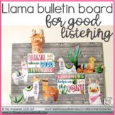 Bulletin Board for Good Listening | Llama theme | Speech T