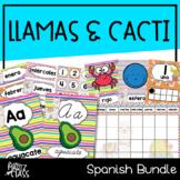 Llama & Cacti Classroom Decor Bundle (SPANISH)