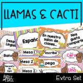 Llama & Cacti Classroom Decor (Extras)