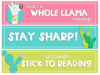 Llama & Cactus Bookmarks