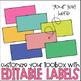 Llama Classroom Decor | Llama Decor | Teacher Toolbox Labels