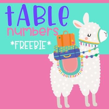 Llama & Cactus Table Numbers 1-10