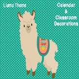 Llama Calendar & Classroom Set