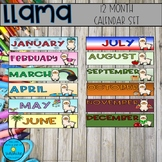 Llama Calendar Set