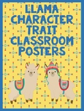 Llama Character Trait Classroom Posters