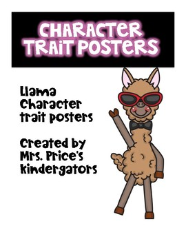 Llama Character Trait Posters