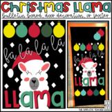 Llama Christmas Bulletin Board, Door Decor, or Poster