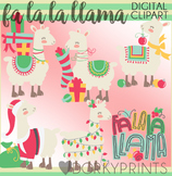 Llama Christmas Clip Art - Christmas Llamas