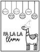 Llama Christmas Coloring Pages