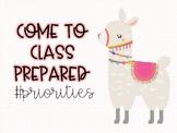 Llama Class Rules