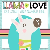 Llama Classroom Decor 100 Chart and Number Line