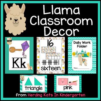 Llama Classroom Decor