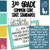 Llama Classroom Decor - 3rd Grade CCSS Posters EDITABLE