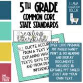 Llama Classroom Decor - 5th Grade CCSS Posters EDITABLE