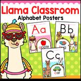 Llama Classroom Decor Alphabet ABC Posters
