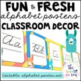 Llama Classroom Decor: Alphabet Posters