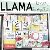 Llama & Cactus Classroom Decor Bundle - Editable
