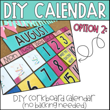 Llama Classroom Decor | Llama Decor | Calendar Kit