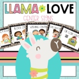 Llama Classroom Decor Center Signs
