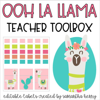 Llama Classroom Decor *EDITABLE BUNDLE*