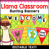 Llama Classroom Decor Editable Banner