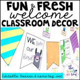 Llama Classroom Decor: Editable Banner and Name Tags