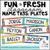Llama Classroom Decor: Editable Name Tags/Plates