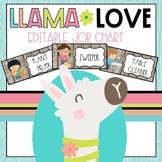 Llama Classroom Decor Job Chart