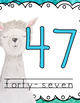Llama Classroom Decor - Number Posters and Number Line
