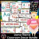 Llama Classroom Decor Theme