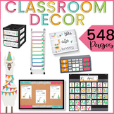Llama Classroom Decor Theme EDITABLE BUNDLE