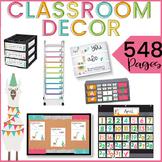 Llama Classroom Decor Theme EDITABLE BUNDLE