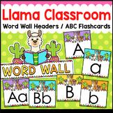 Llama Classroom Decor Word Wall ABC Flashcards