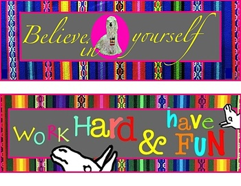 Llama Classroom Posters (21 pgs) Rules, Inspirational Quotes, Noise Levels