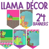 Llama and Cactus Classroom Theme Decor - Banners