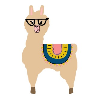 llama clipart by onehappyclassroom teachers pay teachers rh teacherspayteachers com llama clipart cute llama clipart black and white