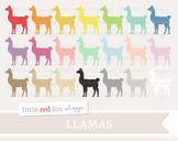Llama Clipart; Animal, Alpaca