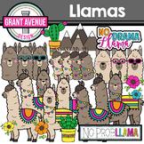 Llama Clipart - Cute Lllamas