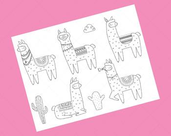 Llama Clipart, Llamas and Alpacas