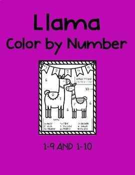 Llama Color By Code