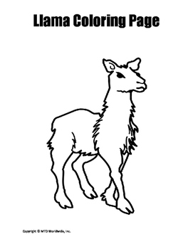 Llama Coloring Page Duo By Lesson Machine Teachers Pay Teachers