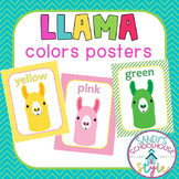 Llama Colors and Color Words Posters- Llama Classroom Theme Decor