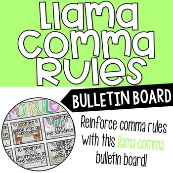 Llama Comma Grammar Bulletin Board