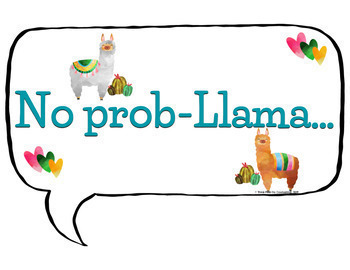 Llama Theme: Counseling Bulletin Board Set - Available in Spanish!