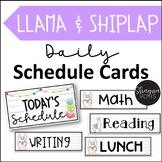 Editable Llama Daily Schedule Cards